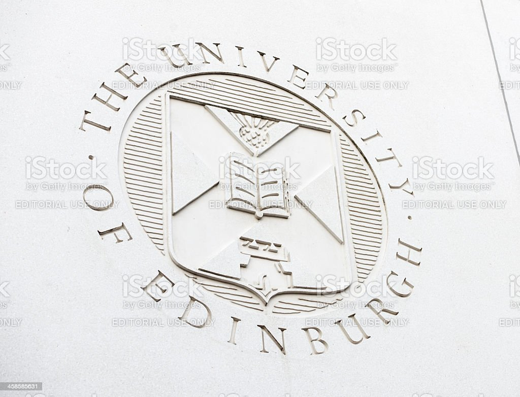 Edinburgh University Coat of Arms royalty-free stock photo