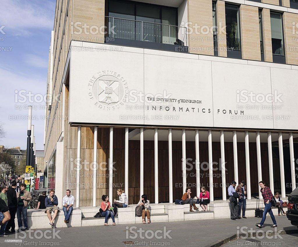 Edinburgh University Students stock photo