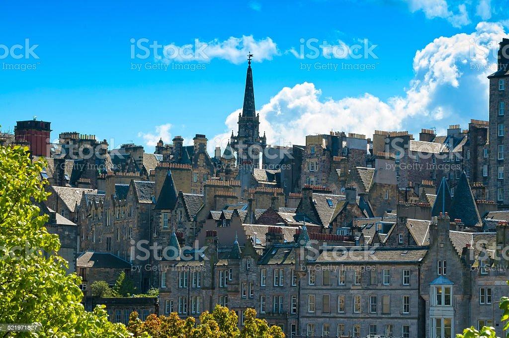 Edinburgh view, Scotland, Uk. stock photo