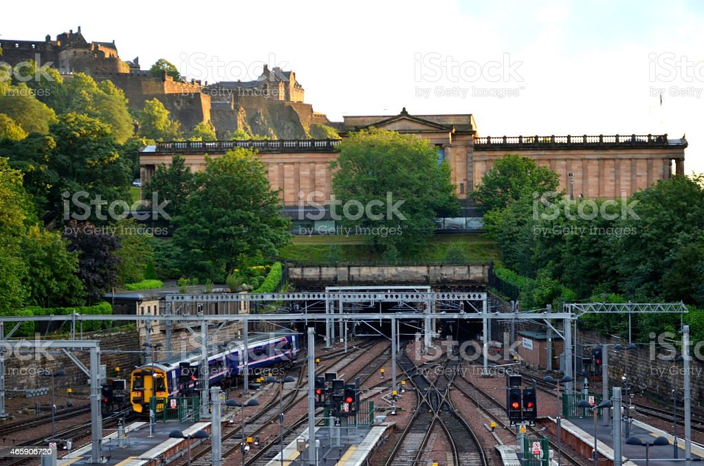 Edinburgh Waverley Station stock photo