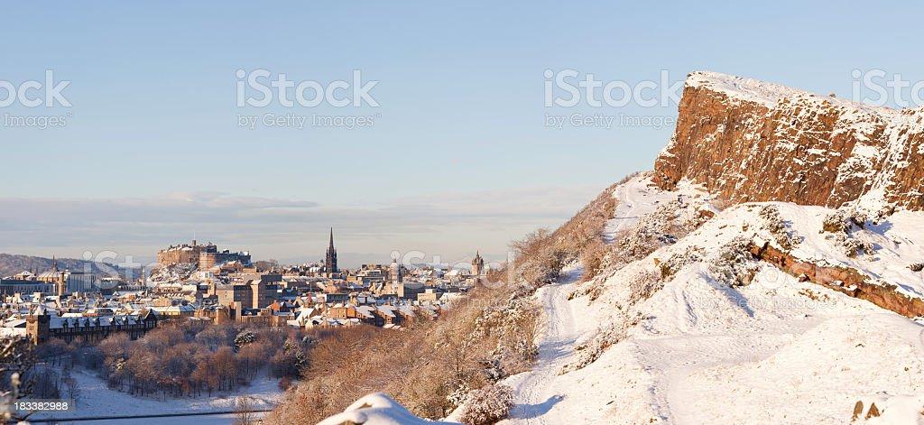 Edinburgh winter stock photo