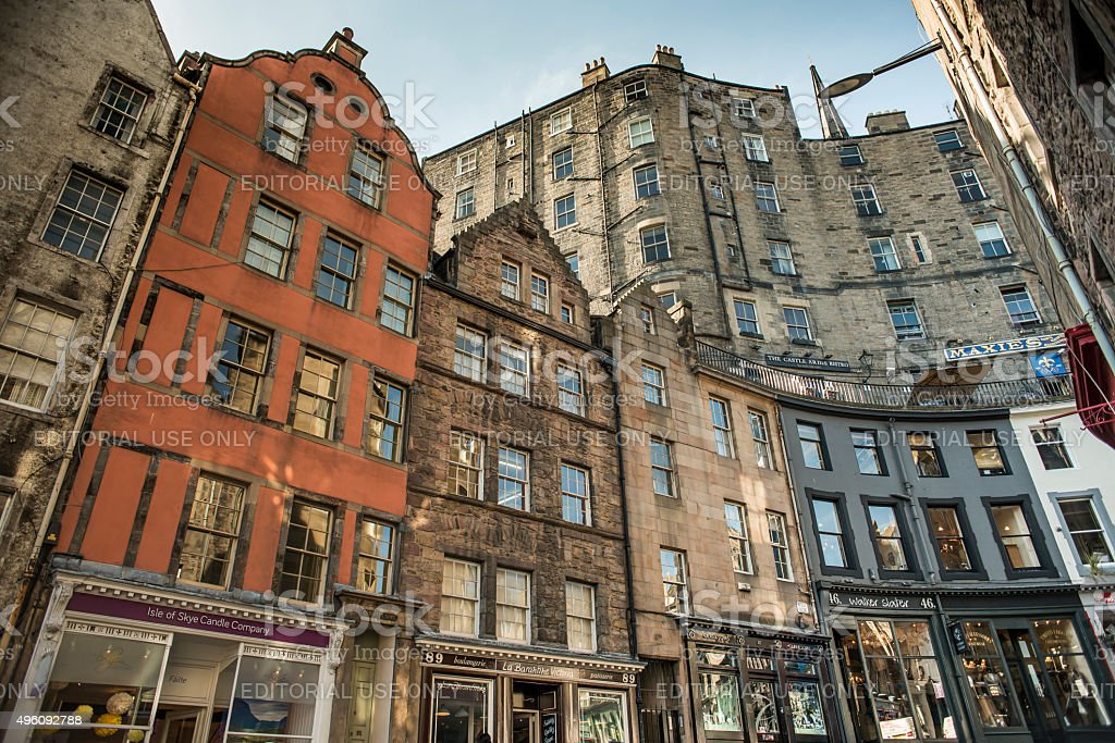 Edinburgh's Grassmarket, Scotland, UK stock photo