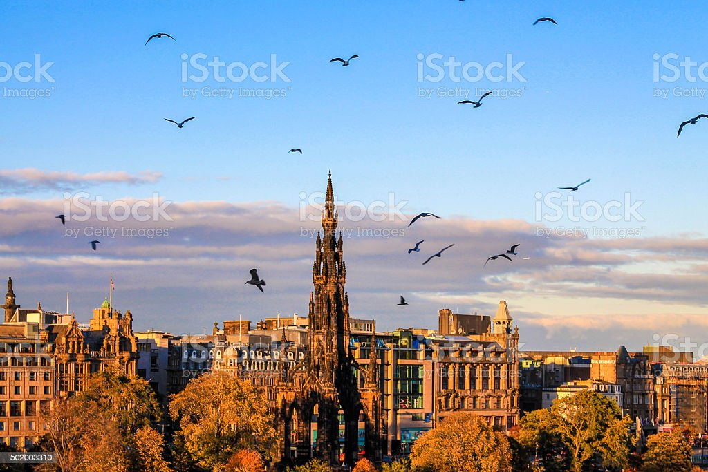 Edinburgh's sunset stock photo