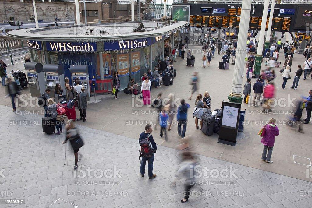 Edinburgh's Waverly Station stock photo