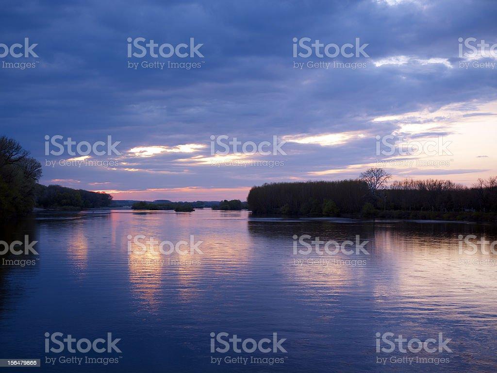 Edirne Meriç River sunset royalty-free stock photo