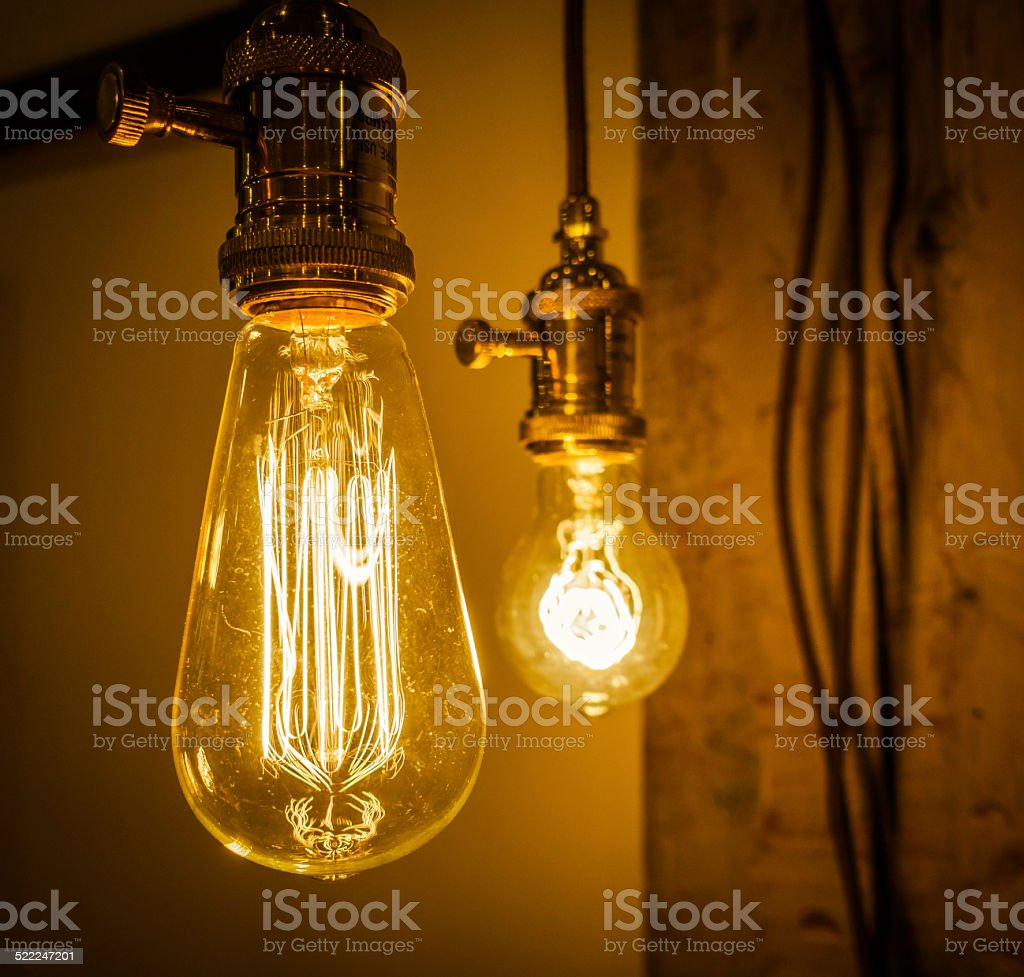 Edison Bulb stock photo