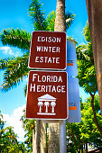 Edison & Ford Winter Estates sign in Fort Myers, FL