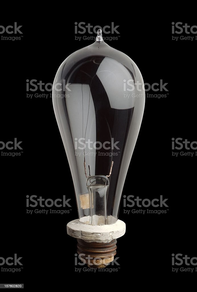 Edison Light Bulb stock photo