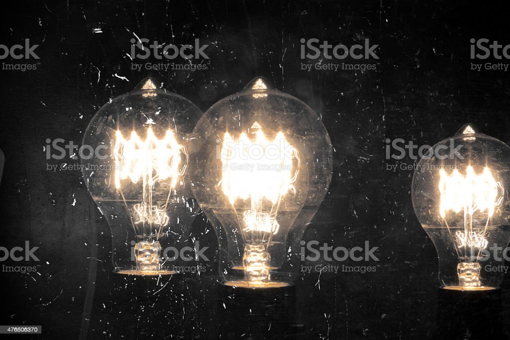 Edison Lightbulb stock photo