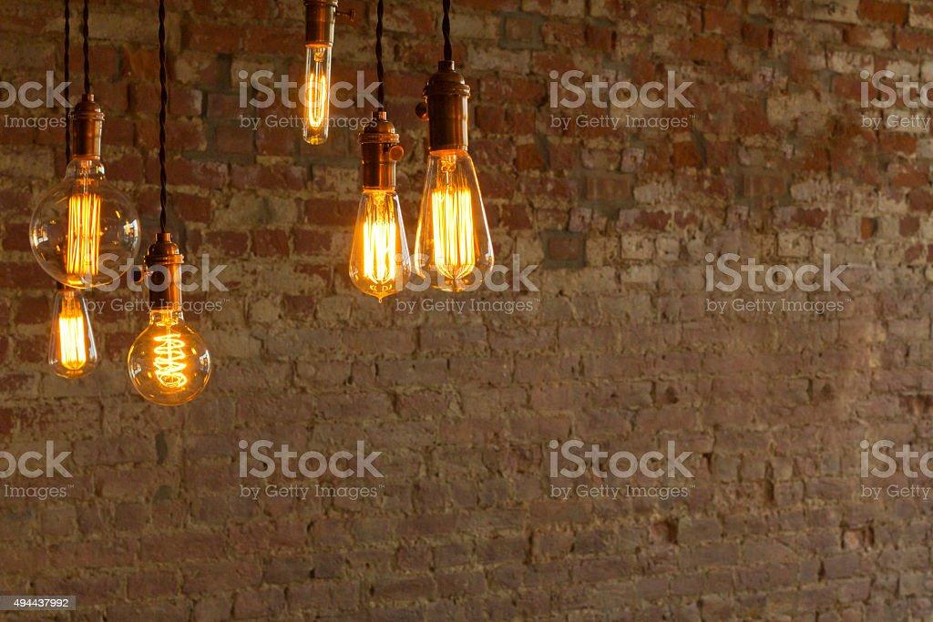 Edison Style Lightbulbs stock photo