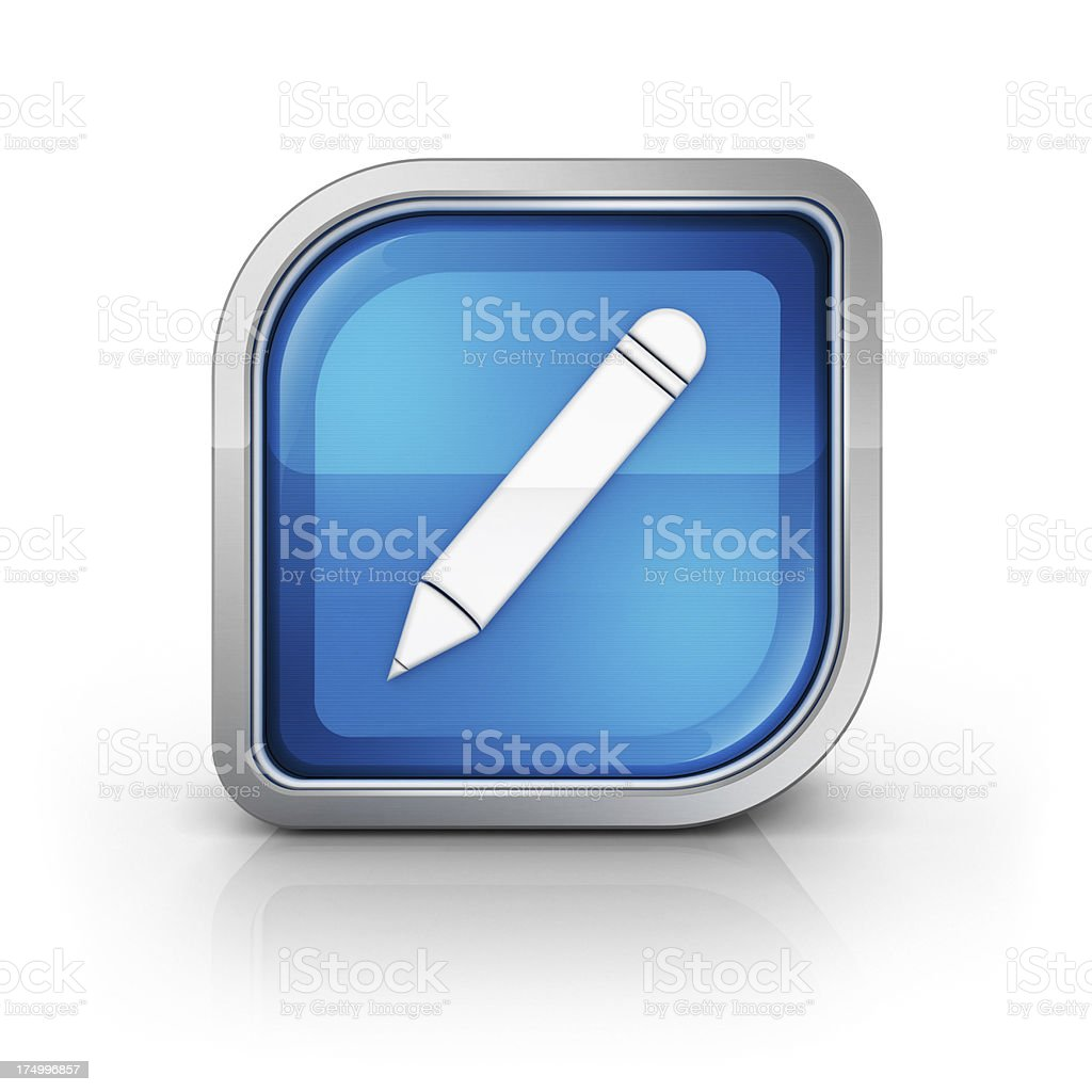 Edit writing pencil icon royalty-free stock photo