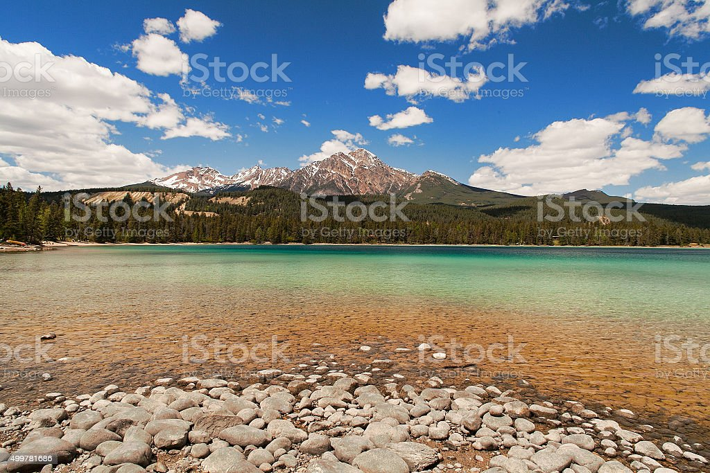 Edith Lake, Alberta, Canada stock photo