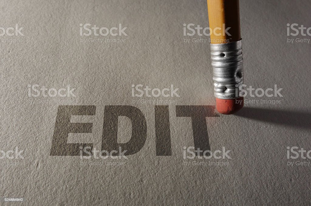 Editing a paper stock photo
