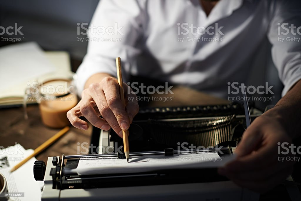 Editing text stock photo