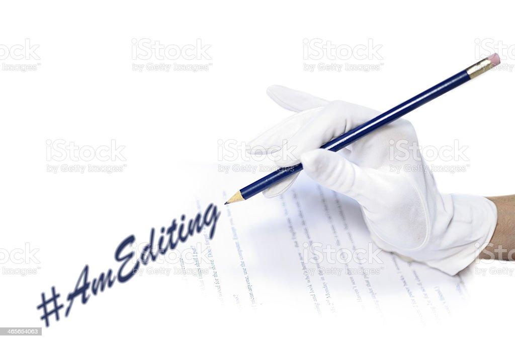 Editor correcting typescript royalty-free stock photo