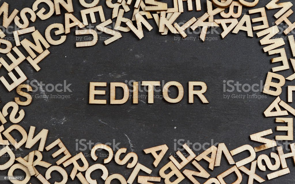 Editor stock photo