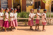 Editorial documentary image, Indian school