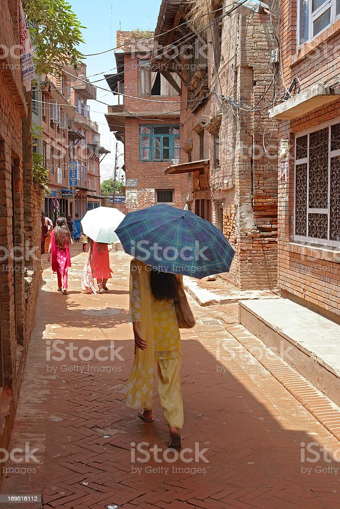 Editorial: Everyday life in Kathmandu, Nepal royalty-free stock photo