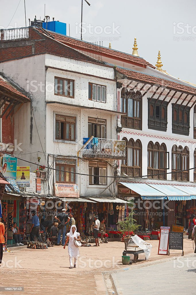Editorial: Photos of everyday life and living in Kathmandu, Nepal royalty-free stock photo