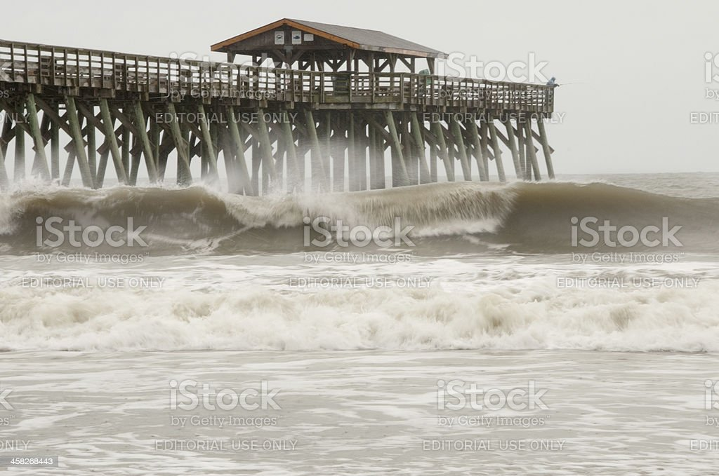 Editorial Use Only Hurricane Sandy at Myrtle Beach South Carolina stock photo