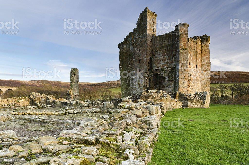 Edlingham Castle stock photo