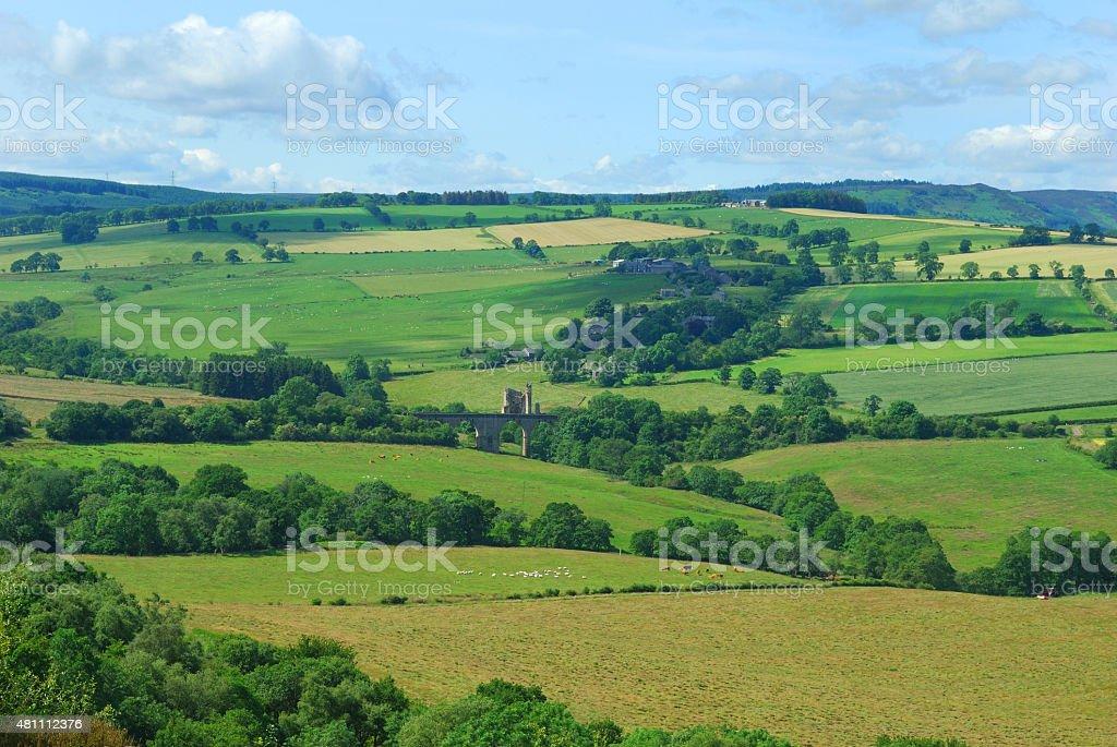 Edlingham castle & village,Northumberland stock photo