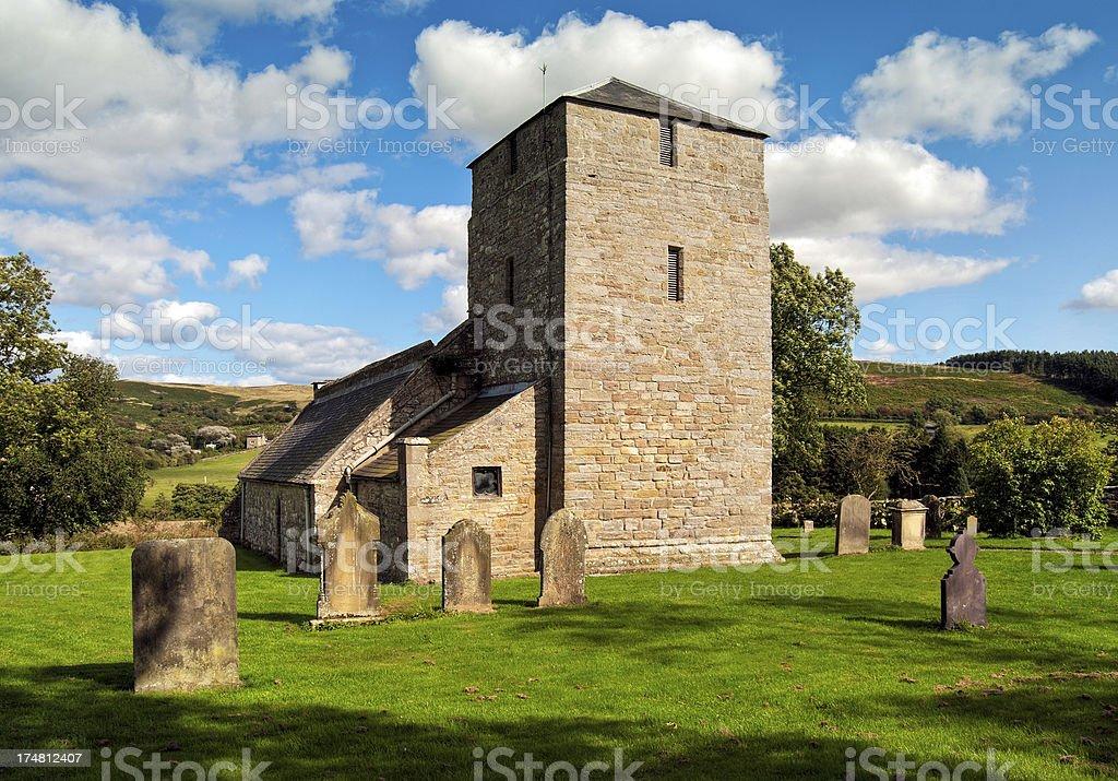 Edlingham Church, Alnwick, Northumberland, UK stock photo