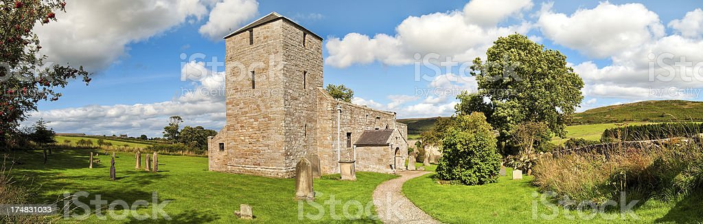 Edlingham Church, Alnwick, Northumberland, UK royalty-free stock photo