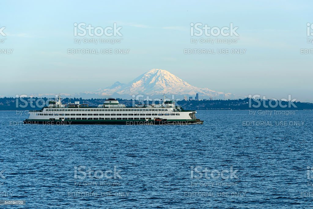 Edmonds–Kingston Ferry stock photo