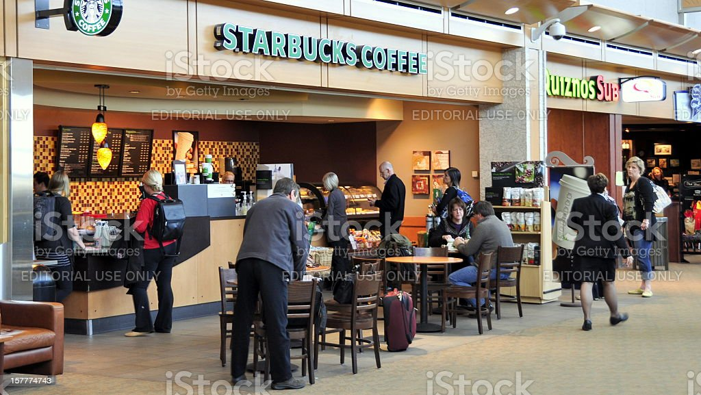 Edmonton Airport Starbucks Coffee royalty-free stock photo