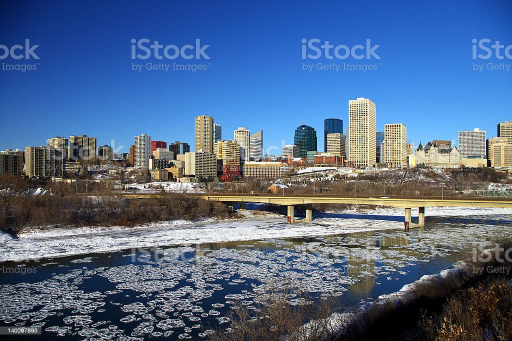 Edmonton, Alberta Skyline stock photo
