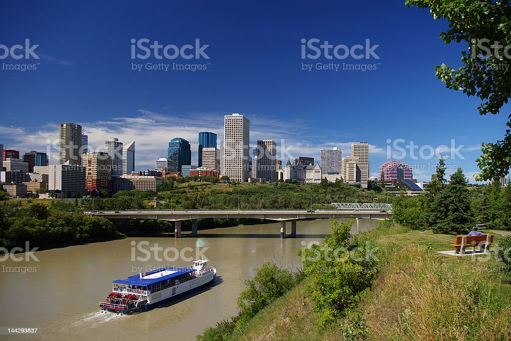 Edmonton Alberta Skyline stock photo