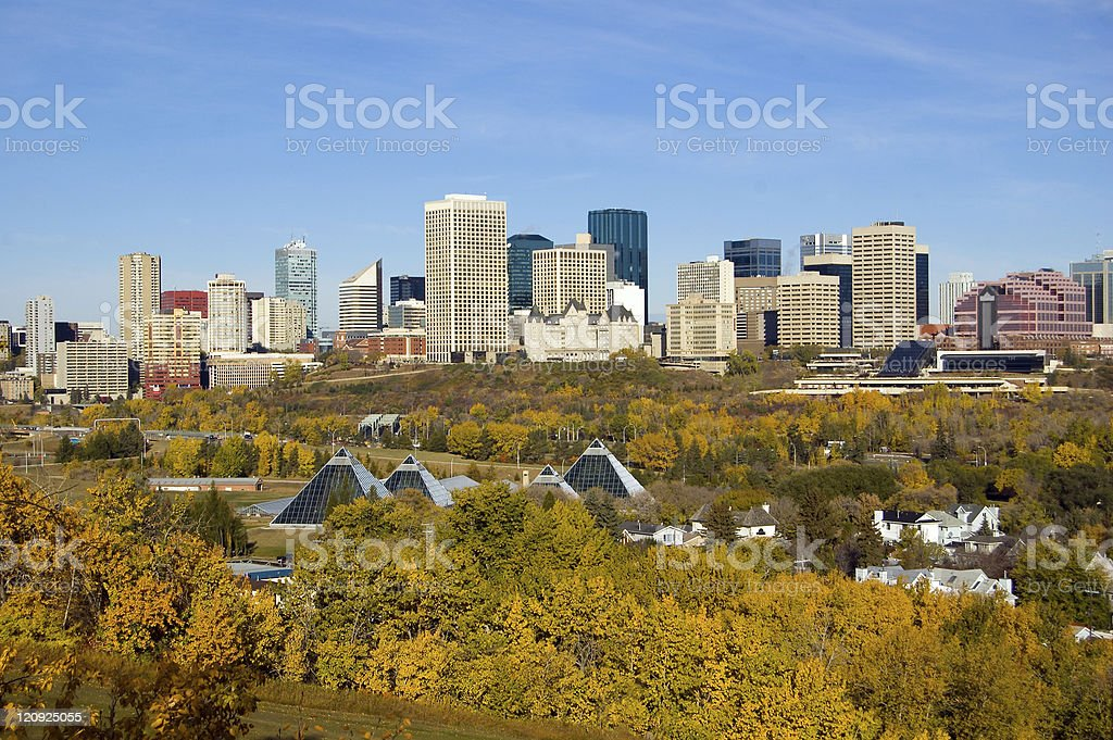 Edmonton and the Vivid Colors of Fall royalty-free stock photo