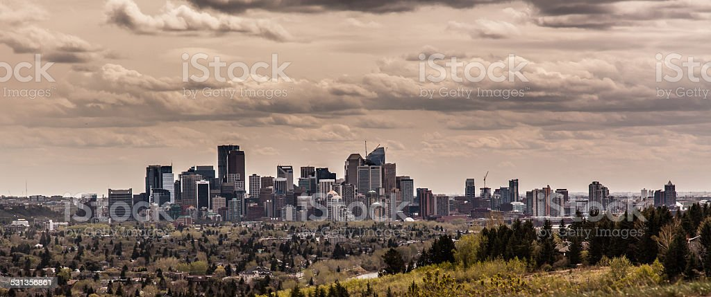 Edmonton calgary city stock photo
