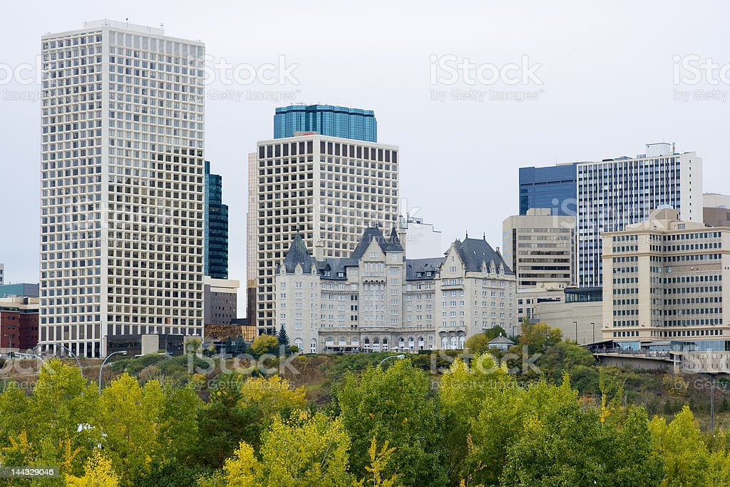 Edmonton City Skyline stock photo