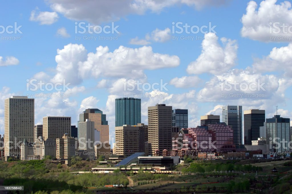 Edmonton Downtown stock photo