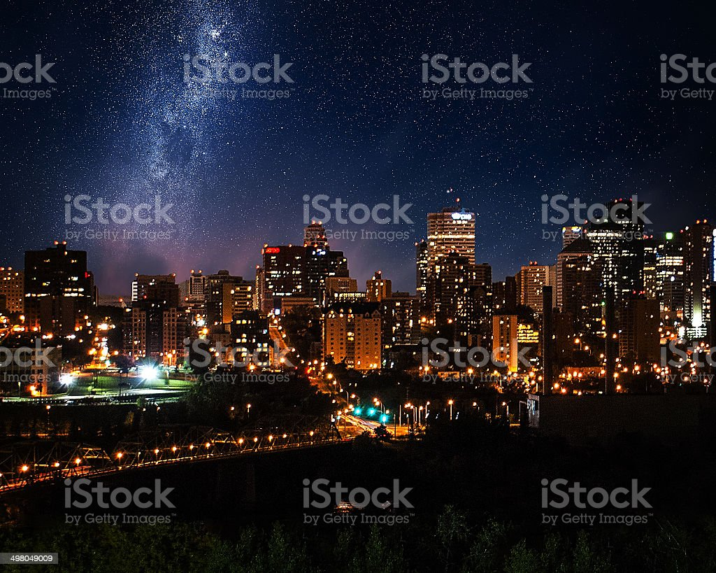 Edmonton Downtown Skyline stock photo