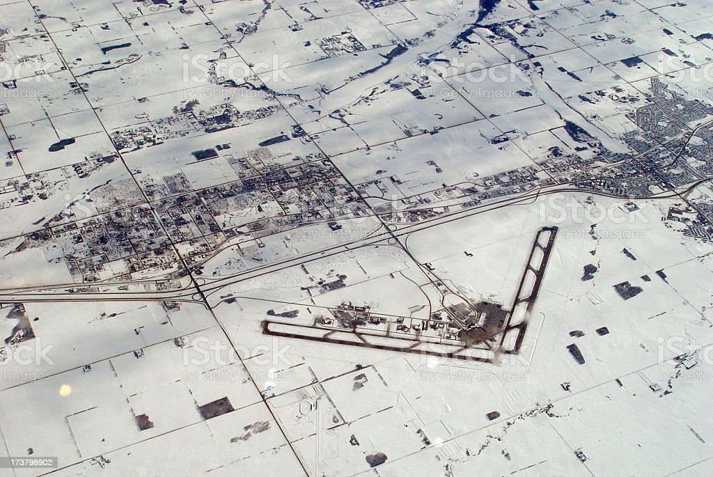 Edmonton from above stock photo