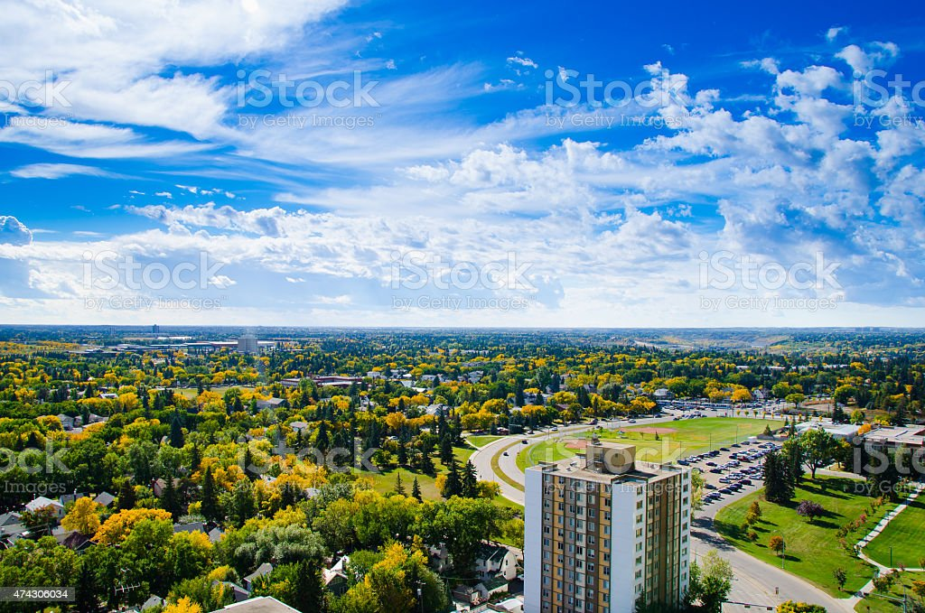 Edmonton in fall stock photo
