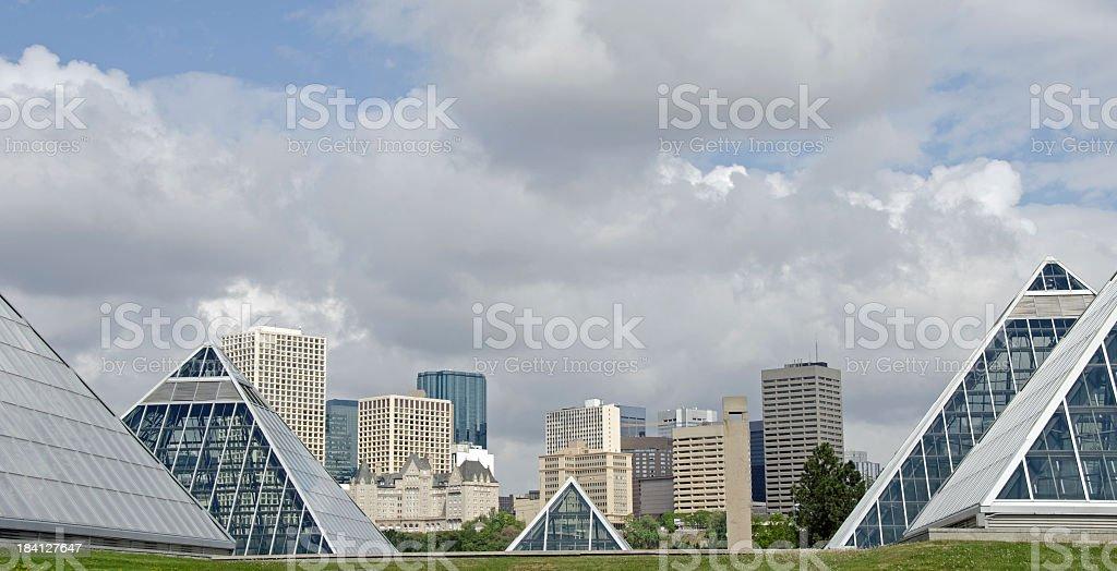 Edmonton Skyline And Conservatory royalty-free stock photo