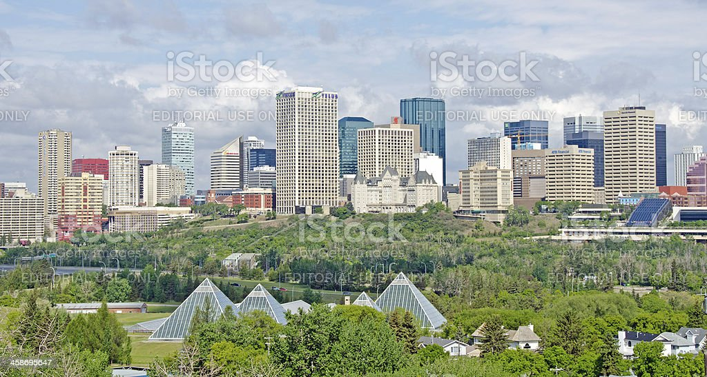 Edmonton Skyline Editorial stock photo
