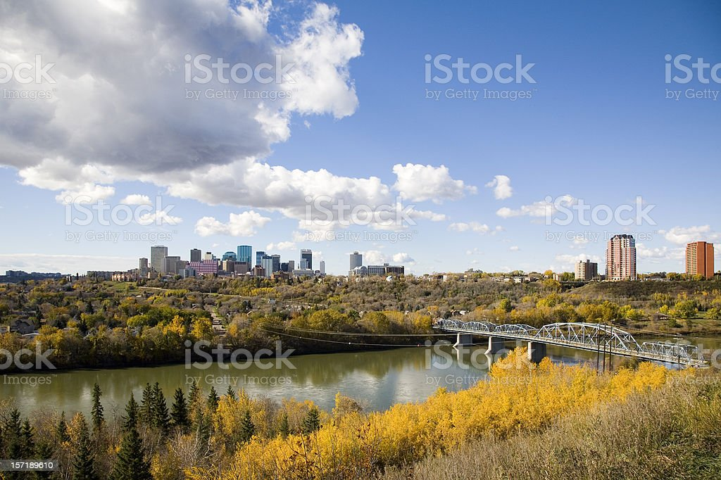 Edmonton Skyline royalty-free stock photo