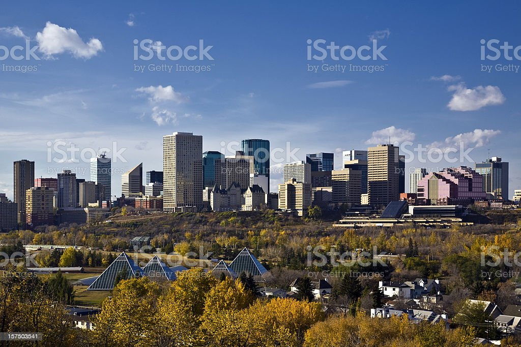 Edmonton Skyline stock photo