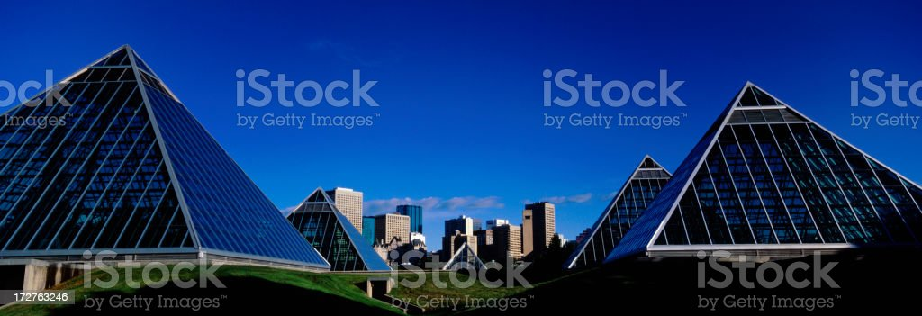 Edmonton Skyline with Blue sky royalty-free stock photo