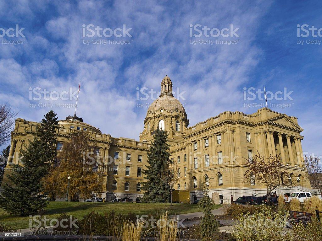 Edmonton State legislature, Alberta, Canada royalty-free stock photo