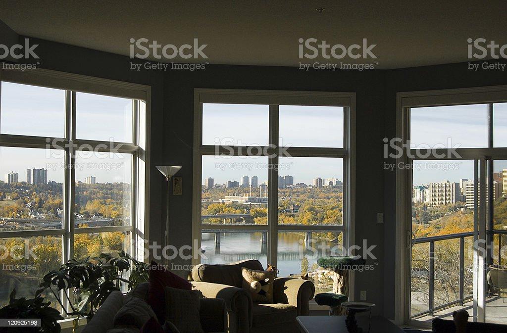 Edmonton - Through the Windows of a Condo royalty-free stock photo