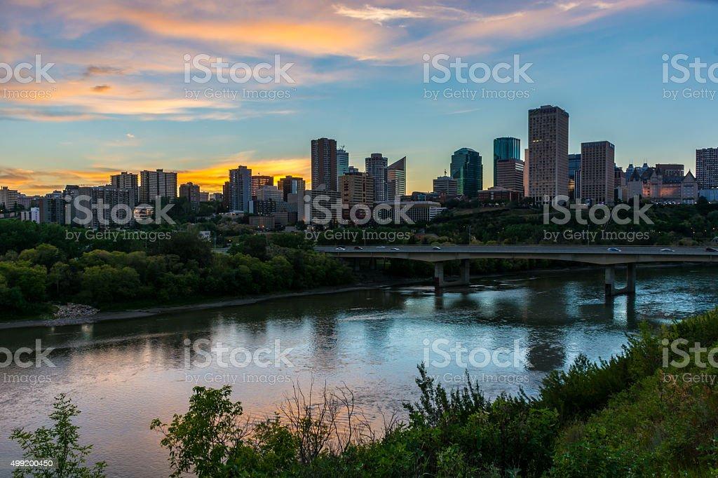 Edmontons Golden Hour stock photo