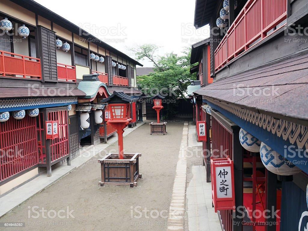 Edo Town, Daytime stock photo