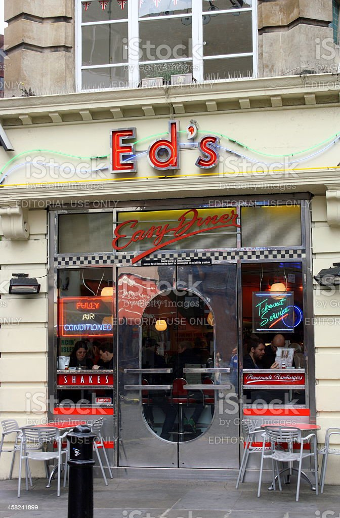 Ed's Easy Diner royalty-free stock photo