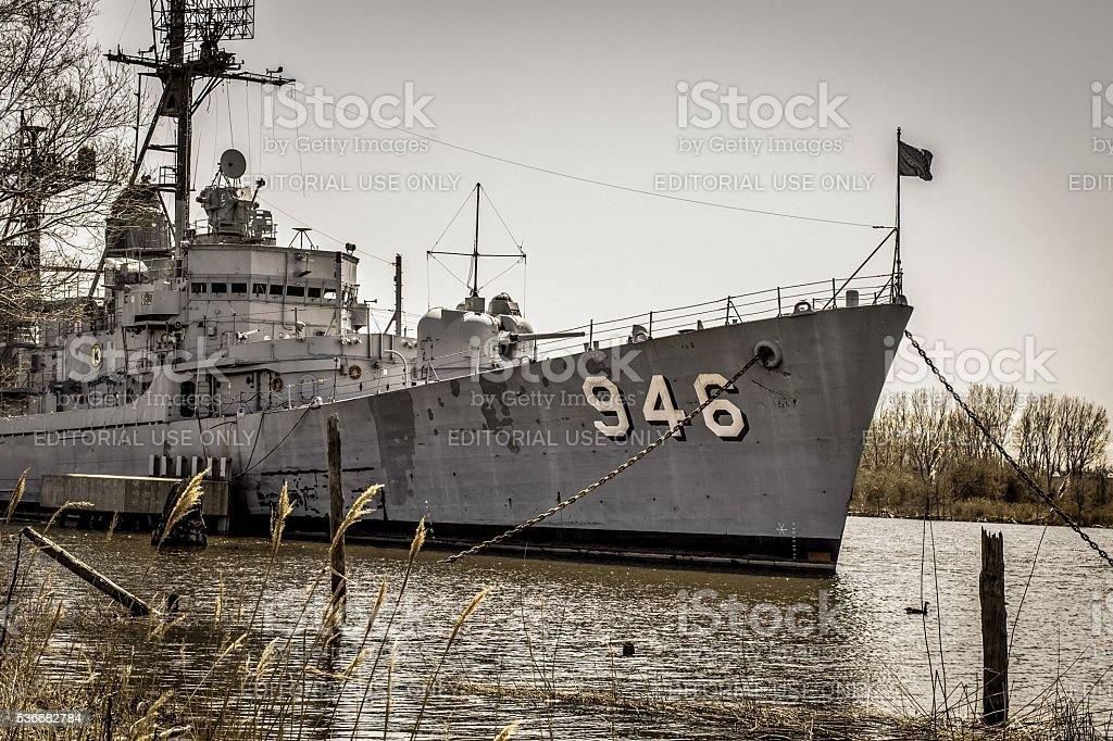 USS Edson Naval Destroyer stock photo